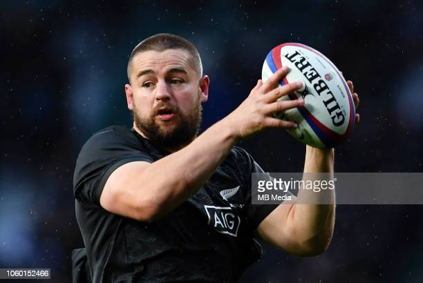 New Zealand's Dane Coles during the pre match warm up before the Quilter International match against England at Twickenham Stadium on November 10,...