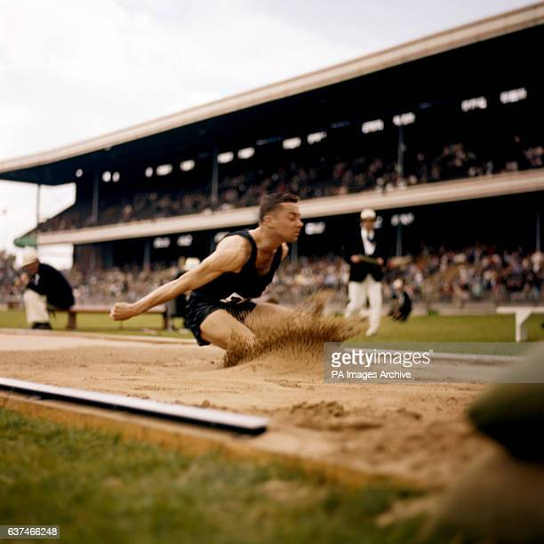New Zealand's David Norris in action during the finals of the Long Jump