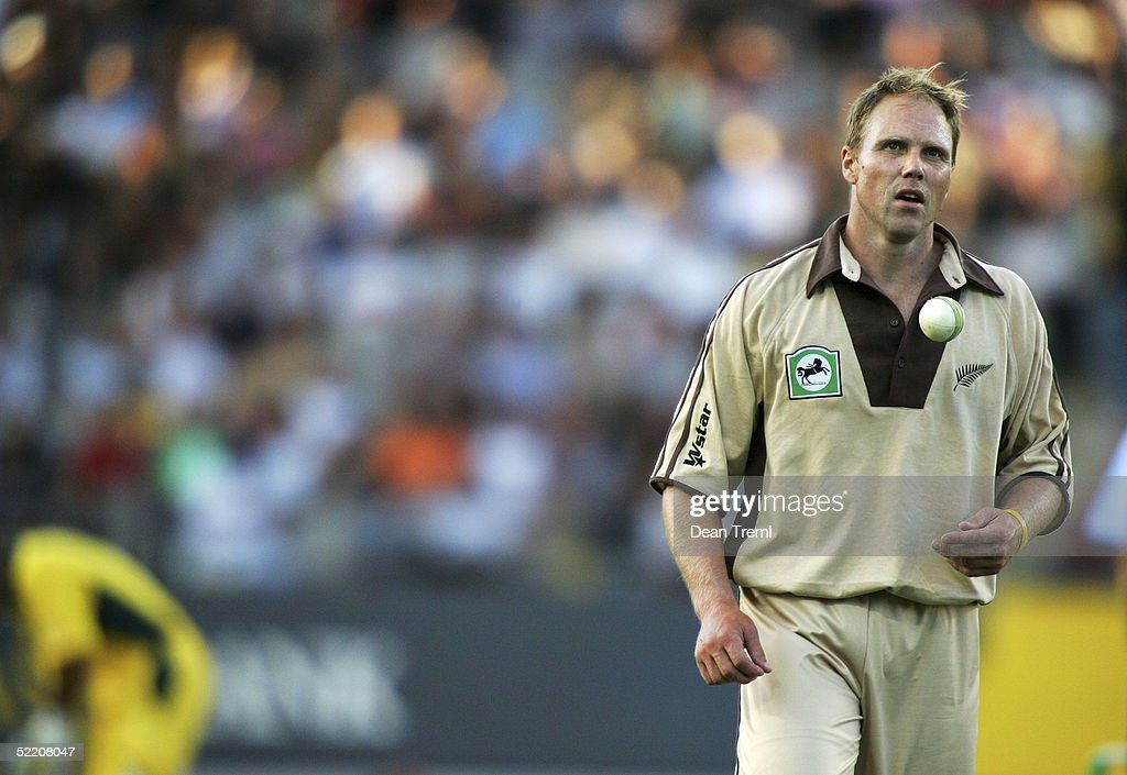 New Zealand's double Internatinal ex-All Black Jeff Wilson during the International Twenty20 game played between the New Zealand Black Caps and Australia at Eden Park on February 17, 2005 in Auckland, New Zealand.