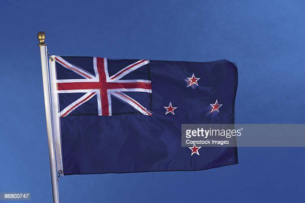 new zealand's flag - new zealand flag stock photos and pictures