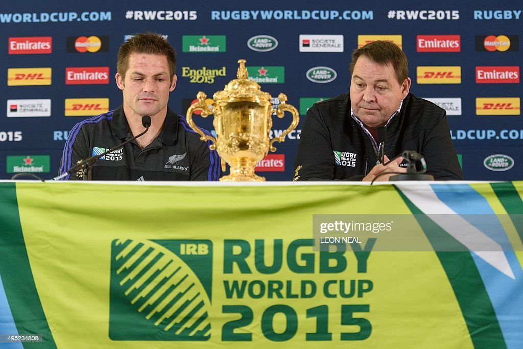 RUGBYU-WC-2015-NZL-PRESSER : News Photo