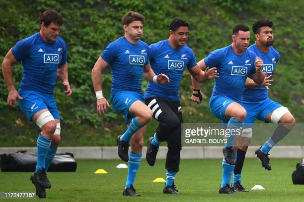 New Zealand's flanker Matt Todd, New Zealand's fly-half Beauden Barrett, New Zealand's centre Anton Lienert-Brown, New Zealand's centre Ryan Crotty...