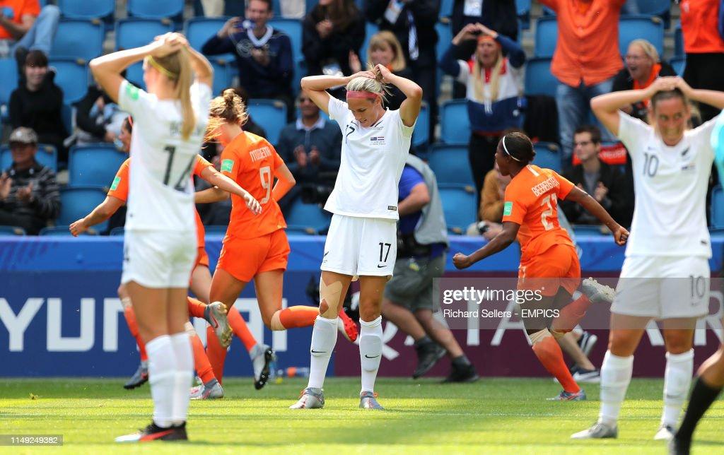 New Zealand v Netherlands - FIFA Women's World Cup 2019 - Group E - Stade Oceane : Nachrichtenfoto