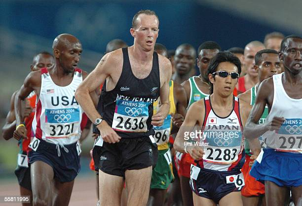New Zealand's John Henwood in action in the Mens 10000 metres at the Olympic Games in Athens Greece Friday August 20th 2004
