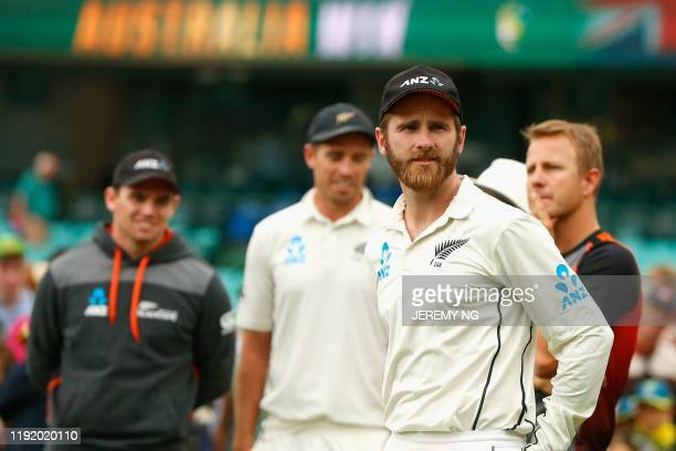 New Zealands Kane Williamson looks on dejected after losing the third cricket Test match and series between Australia and New Zealand at the Sydney...