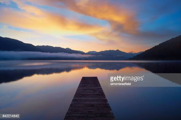 New Zealand's Lake Kaniere At Dawn