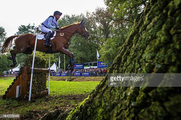 New Zealand's Lizzie Brown rides Henton Attorney General during the 43rd edition of the Military Boekelo horse riding competition on October 12 2013...