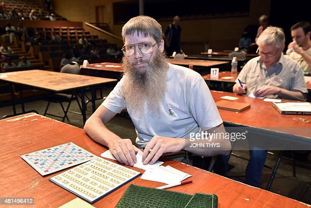New Zealand's Nigel Richards competes in a category of the Francophone Scrabble World Championships in LouvainLaNeuve on July 21 2015 Nigel Richards...