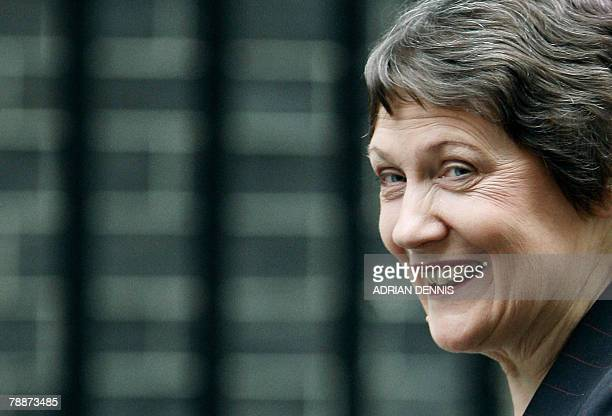 New Zealand's Prime Minister Helen Clark arrives at No10 Downing Street for a meeting with Gordon Brown in London 10 January 2008 Britain's Prime...