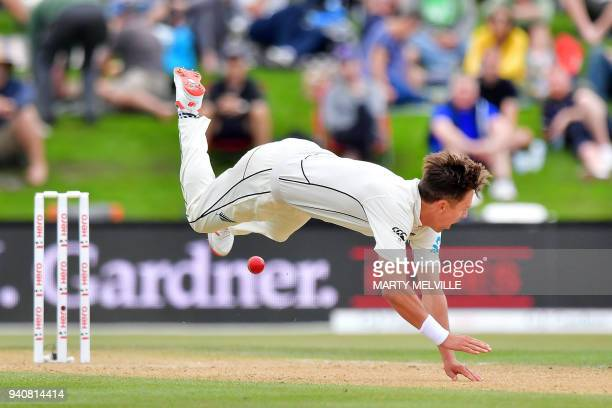 New Zealand's Ross Taylor attempts to catch England's Jonny Bairstow during day four of the second cricket Test match between New Zealand and England...