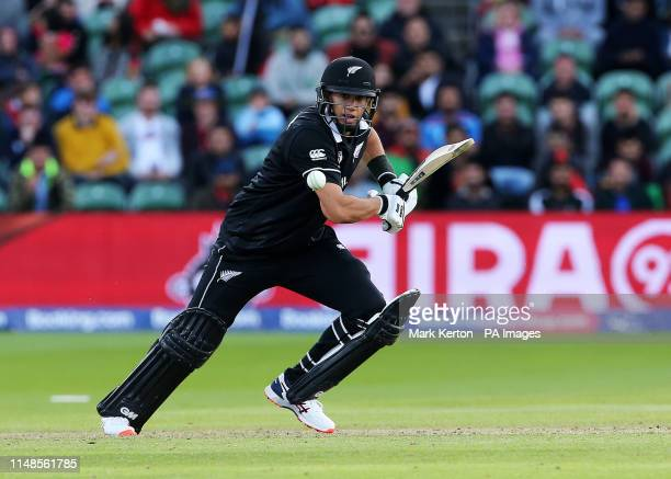 New Zealand's Ross Taylor in batting action during the ICC Cricket World Cup group stage match at the County Ground Taunton