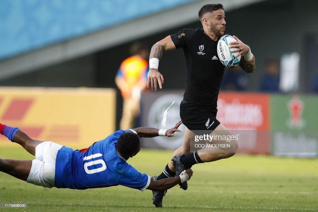 RUGBYU-WC-2019-MATCH27-NZL-NAM : News Photo