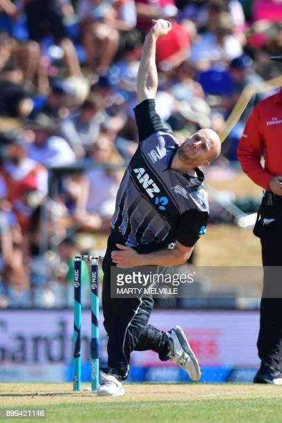 New Zealand's Seth Rance bowls during the first Twenty20 international cricket match between New Zealand and the West Indies at Saxton Oval in Nelson...