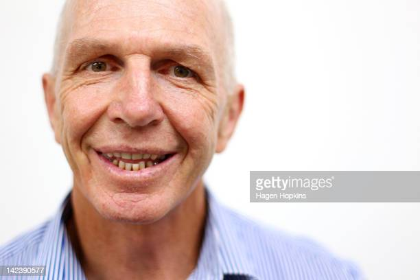 New Zealands Sevens coach Gordon Tietjens poses after a press conference to announce that he has re-signed as New Zealand Rugby Sevens coach at NZRU...