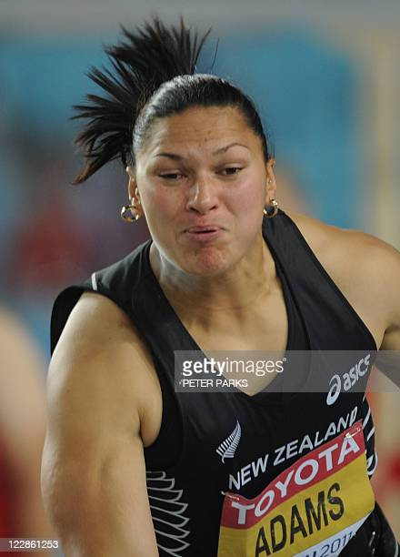 New Zealand's Valerie Adams competes in the women's shot put final at the International Association of Athletics Federations World Championships in...
