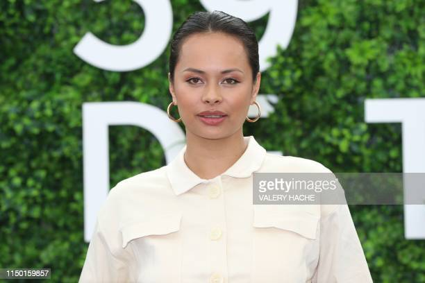 New ZealandSamoan actress Frankie Adams poses during a photocall for the TV show The Expanse as part of the 59nd MonteCarlo Television Festival on...