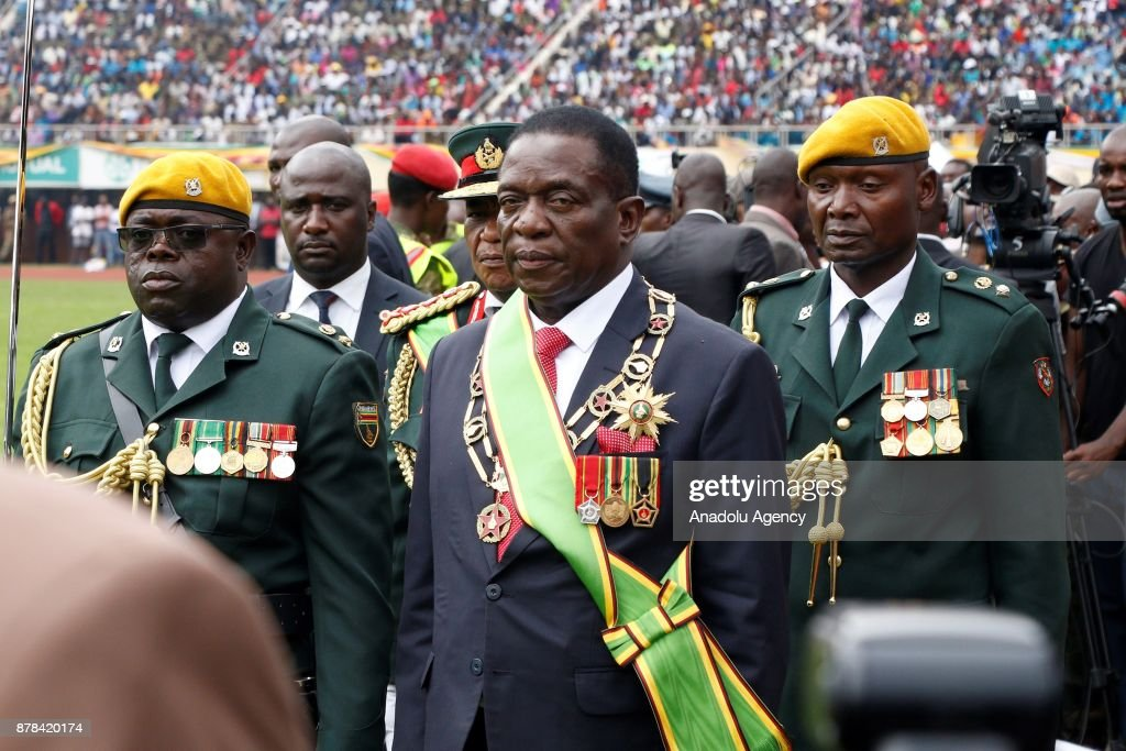 New Zimbabwe President Emerson Mnangagwa sworn in : News Photo