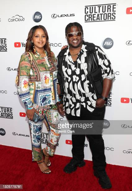 Newal Dehan and Jason Hobdy attend the Culture Creators Innovators & Leaders Awards at The Beverly Hilton on June 26, 2021 in Beverly Hills,...
