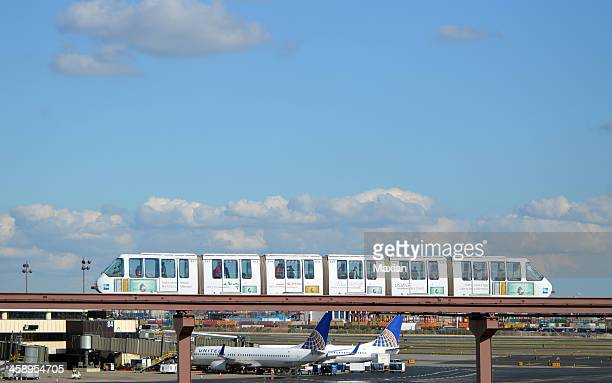 newark airport airtrain - monorail stock pictures, royalty-free photos & images