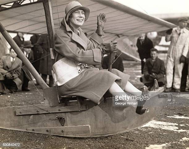 Famous British Aviatrix Assists At Dedication Of New Newark Hangar Mrs Keith Miller wellknown British air woman who with Capt Lancaster RAF flew from...