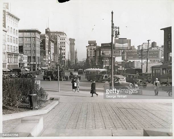 View of Market street in Newark from the Court House Undated