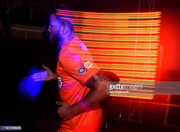 Newbill of the Taipans runs onto the court during the round 10 NBL match between the Cairns Taipans and the New Zealand Breakers at the Cairns...