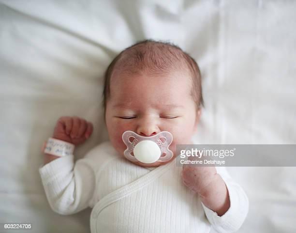 A newborn at the maternity ward