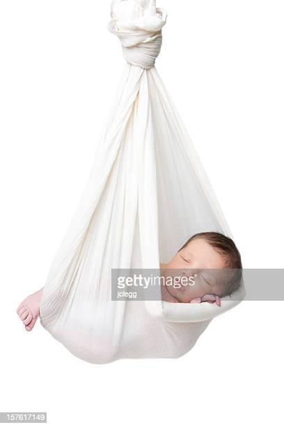 Neugeborenes baby Schlafen in einer Hängematte