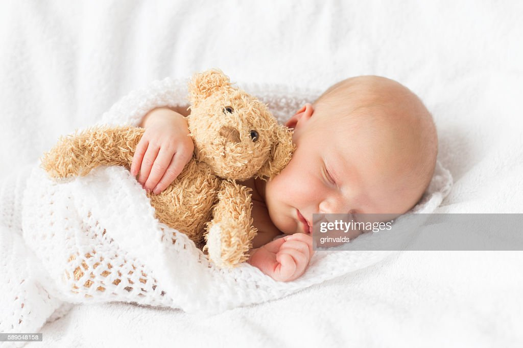Newborn baby sleeping : Stock Photo