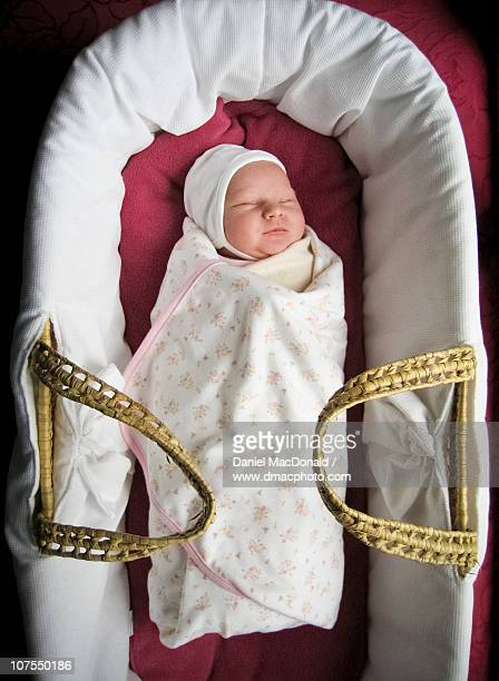 Newborn Baby Swaddled and Sleeping
