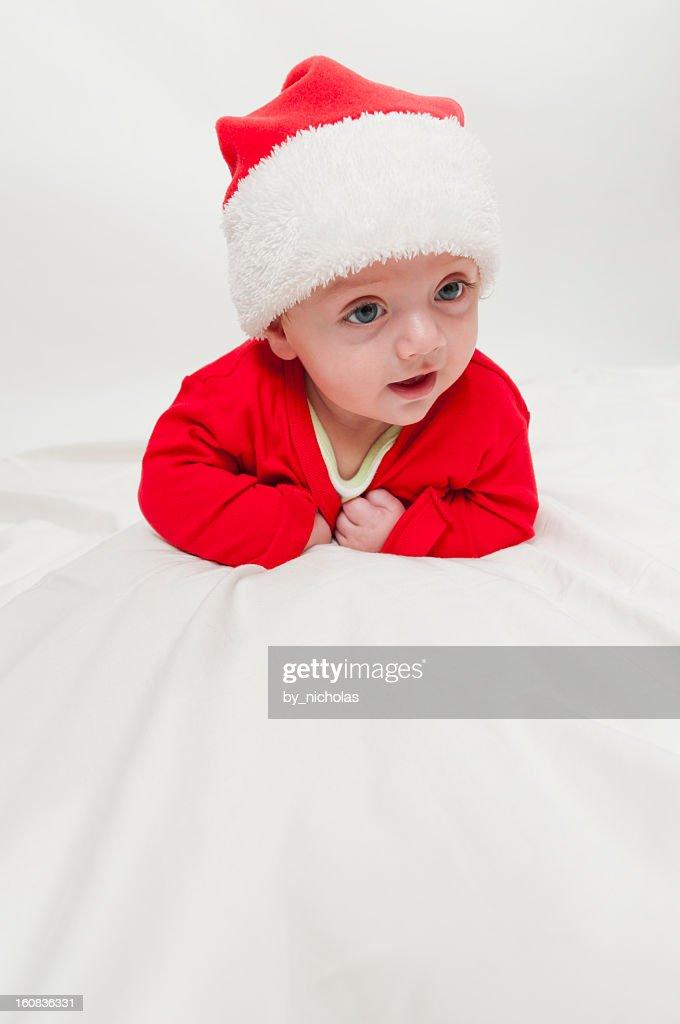 Newborn baby with Santa Hat   Stock Photo b5e774d6167