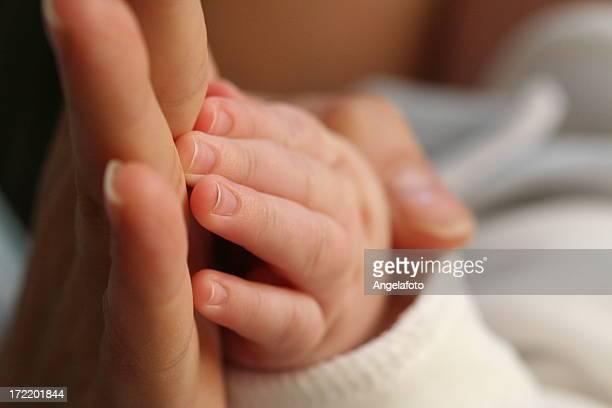 Neugeborene Hand