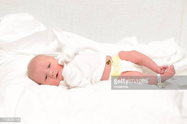 newborn in hospital - umbilical cord stock photos and pictures