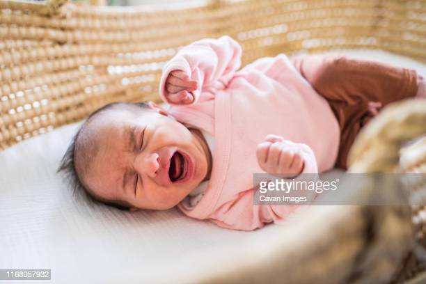 newborn scream bed - shouting stock pictures, royalty-free photos & images