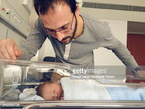 Newborn with dad