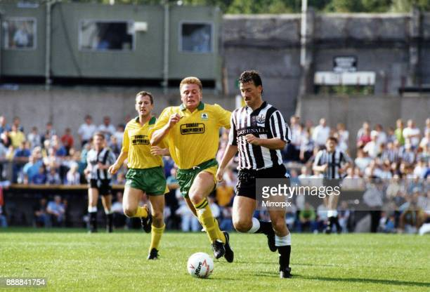 Newcastle 20 Plymouth Division Two league match at St James Park Saturday 25th August 1990 Our Picture Shows Bjorn Kristensen races away from...