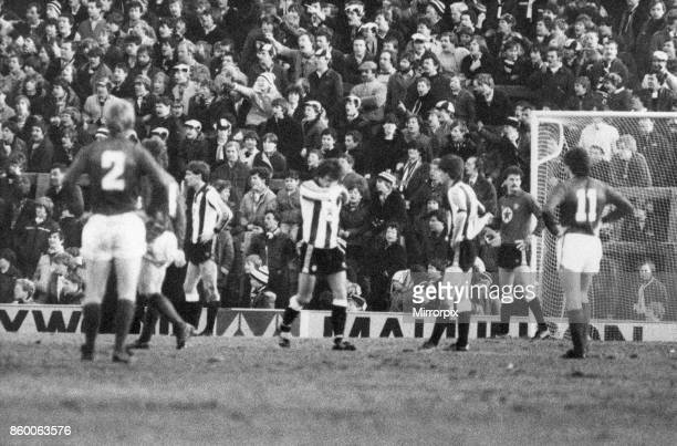 Newcastle 22 Bolton Division Two League match at St James Park Monday 3rd January 1983 Terry McDermott is sent off