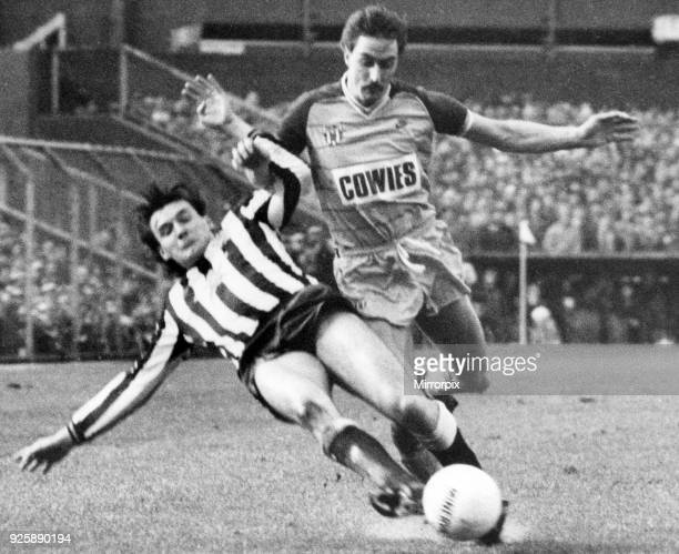 Newcastle 3 -1 Sunderland English League Division 1 match held at St James' Park, 1st January 1985.