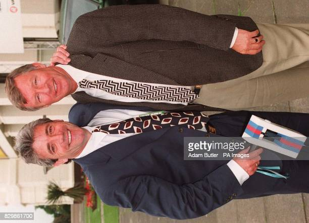Newcastle boss Kevin Keegan and Manchester United manager Alex Ferguson meet up at Wembley for the start of the Euro 96 European Championships for...