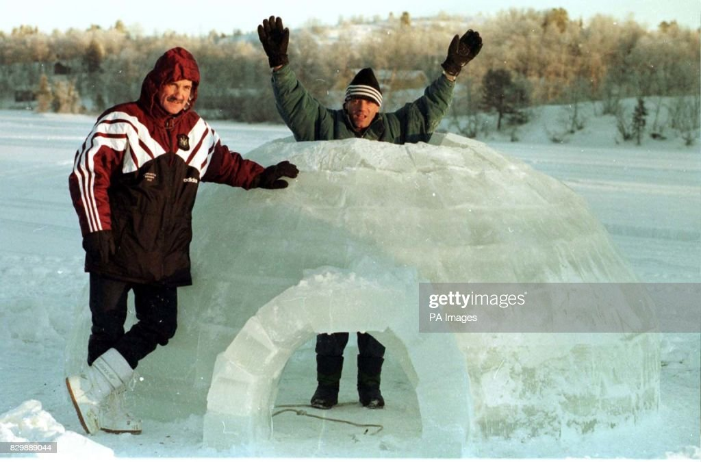 Keegan and igloo/Lapland : News Photo