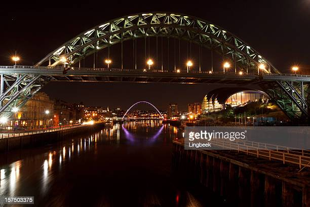 Newcastle Bridges at night