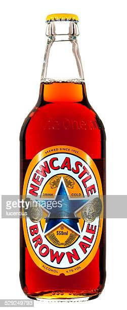 Newcastle Brown Ale bottle isolated on white