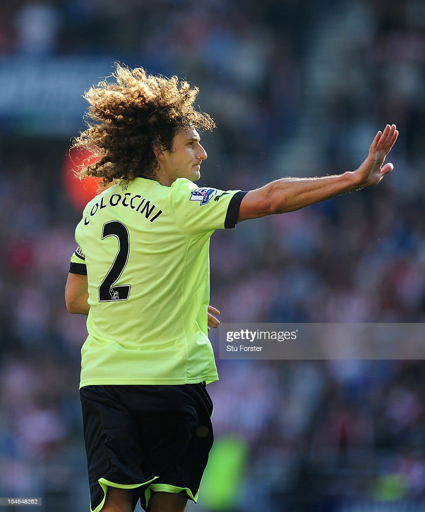 Newcastle captain Fabricio Coloccini in action during the Barclays Premier league match between Sunderland and Newcastle United at Stadium of Light on October 21, 2012 in Sunderland, England.