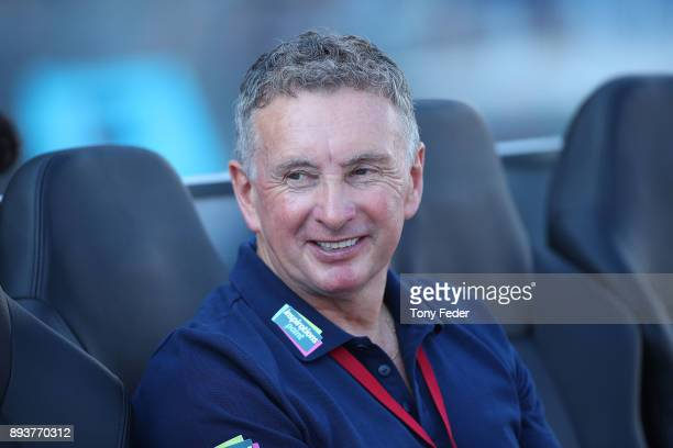 Newcastle coach Ernie Merrick during the round 11 ALeague match between the Newcastle Jets and the Adelaide United at McDonald Jones Stadium on...