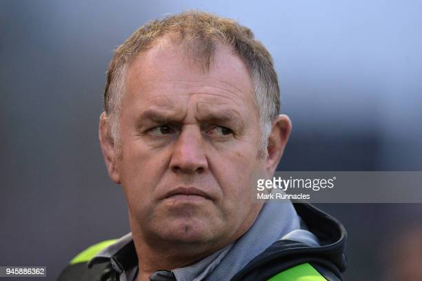 Newcastle Director of Rugby Dean Richards looks on during the Aviva Premiership match between Newcastle Falcons and Sale Sharks at Kingston Park on...