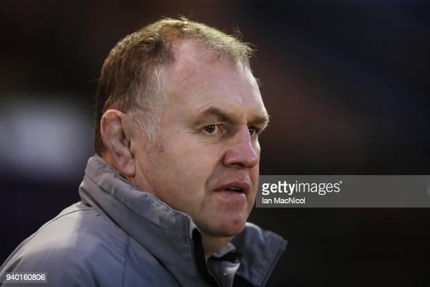 Newcastle Falcons director of Rugby Dean Richards is seen during the European Rugby Challenge Cup QuarterFinal match between Newcastle Falcons and CA...