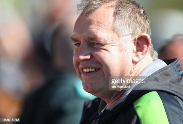 Newcastle Falcons Director of Rugby Dean Richards is seen during the Aviva Premiership match between Newcastle Falcons and Wasps at Kingston Park on...