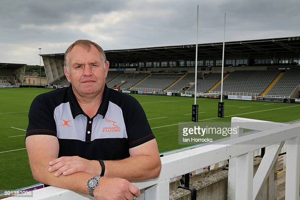 Newcastle Falcons director of rugby Dean Richards poses for a portrait during the Newcastle Falcons squad photocall for the 20162017 Aviva...