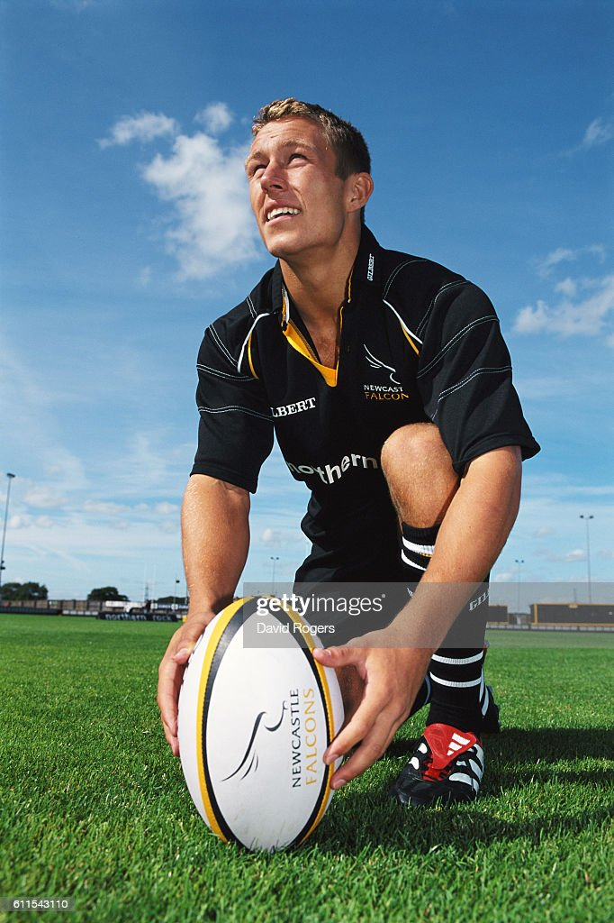 Newcastle Falcons fly half Jonny Wilkinson pictured at Kingston Park ahead of the 2001/2002 season on August 20, 2001 in Newcastle-Upon-Tyne, England.