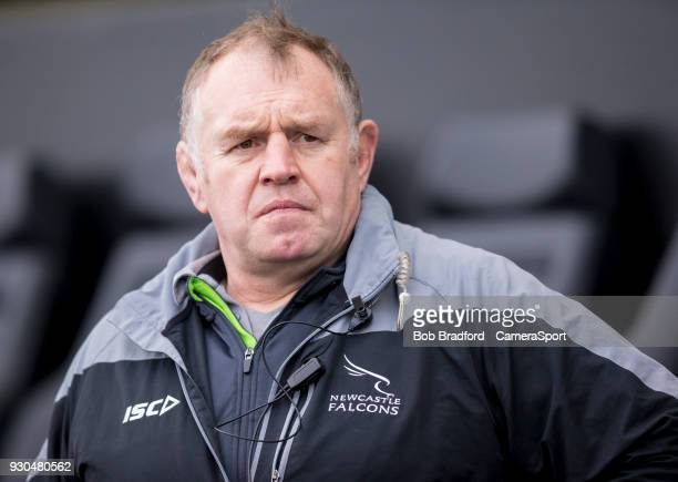 EXETER ENGLAND MARCH Newcastle Falcons' Head Coach Dean Richards during the Anglo Welsh Cup Semi Final match between Exeter Chiefs and Newcastle...